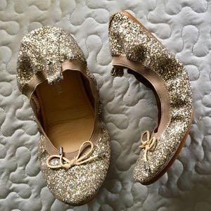 Yosi Samra foldable ballet glitter flats 7